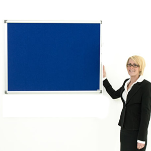 woman with display board